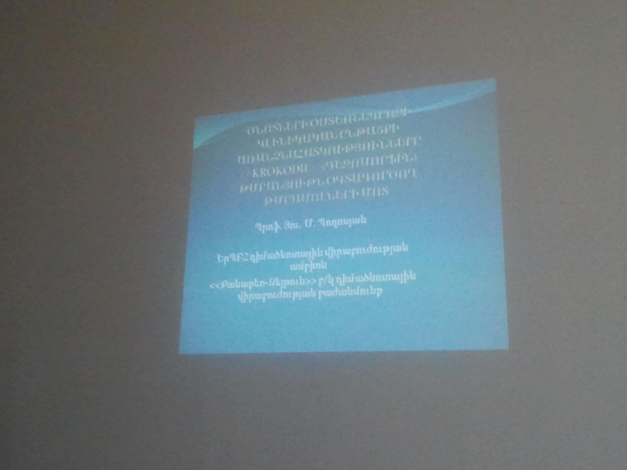 25.05.13 Դիմածնոտային Կոնֆերանս